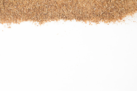 Ground Wheat Frame isolated in white background.