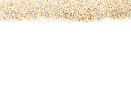 free dish: Quinoa Flakes Frame isolated in white background Stock Photo