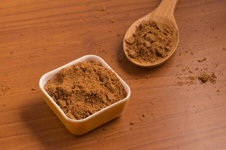 glycemic: Coconut Sugar. Low glycemic index. Stock Photo