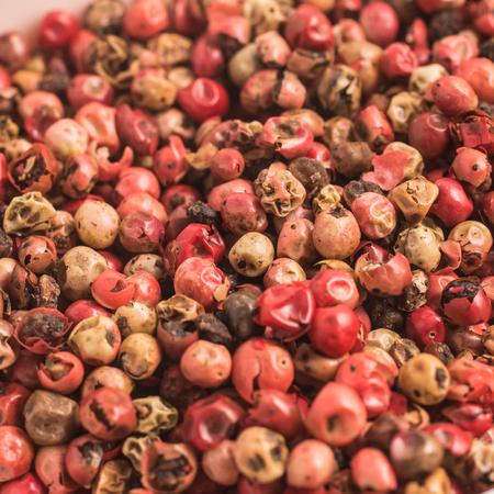 Brazilian Pink Pepper. Close-up Photo. Background