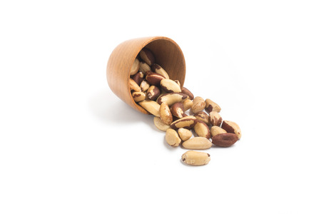 Brazilian Nuts. Castanha do Para isolated on white background