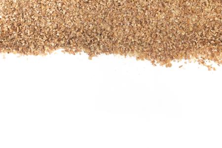 Ground Wheat for a Kibbeh Frame isolated on white background Trigo para quibe.