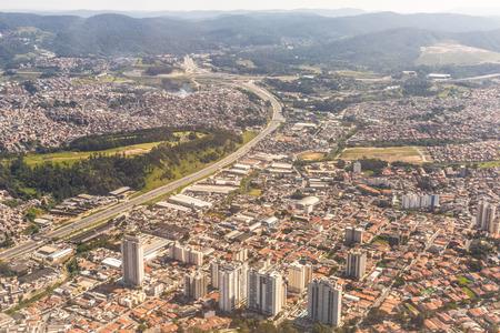 Neighborhood of Guarulhos,  Sao Paulo, Brazil. Top View Photo