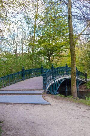 AMSTERDAM, NETHERLANDS - APRIL 13, 2019: Vondelpark in Amastedam on a beautiful blue day. Netherlands 報道画像