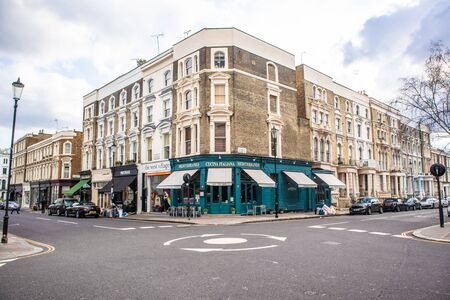 London, England - APRIL 3, 2019: Street somewhere in London, UK