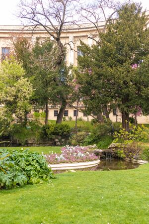 Garden near the eifel tower, Paris, France 写真素材 - 133706852