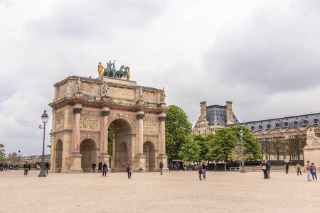 Paris, France - APRIL 9, 2019: Carrousel Arc de Triomphe, Paris, France 写真素材 - 133706864