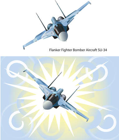 su: flanker fighter bomber aircraft SU-34