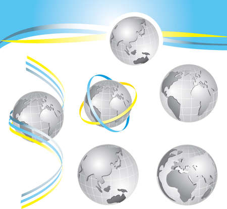 style planet Earth with some design ideas Vector