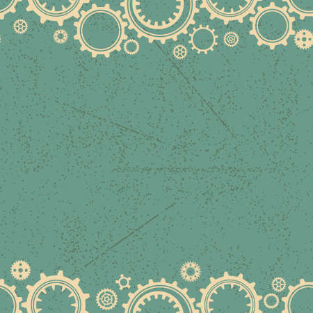 gearings: Seamless background with different mechanical elements