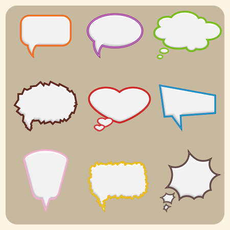 thinking balloon: Set of colorful speech bubbles  Vector