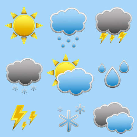 Weather Forecast vector icone set Stock Vector - 19082305