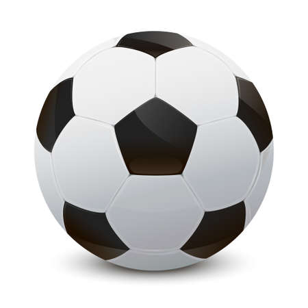kick ball: Illustration of a realistic soccer ball
