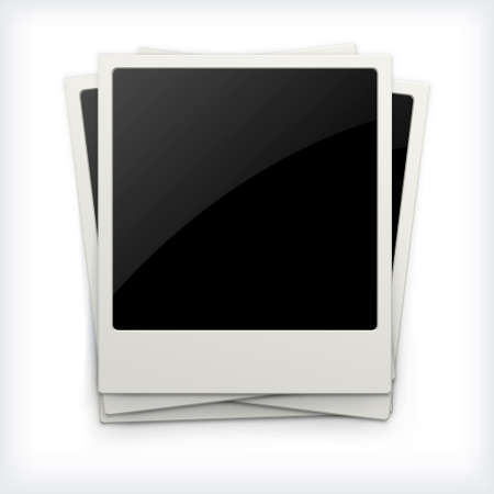 polaroid: Polaroid photo frames isolated on white background
