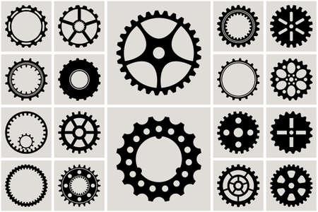 Cogs mécanique et roue dentée Set. Vector illustration
