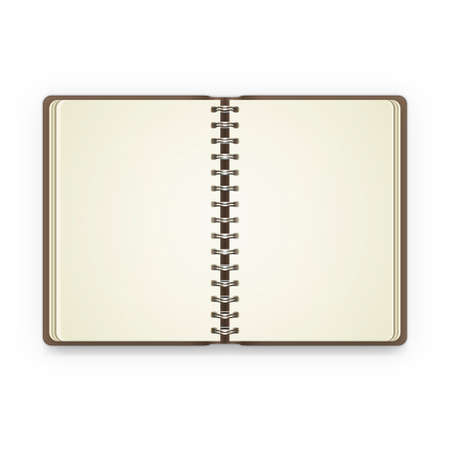 open notebook: Open notebook with blank pages. Vector illustration Illustration