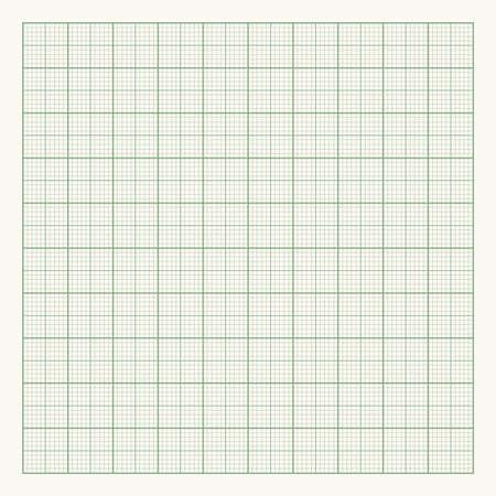 Green graph paper on light background. Vector illustration Ilustração