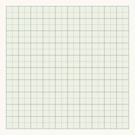 Green graph paper on light background. Vector illustration Vectores