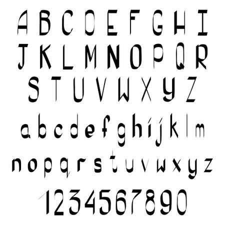 calligraphic: Handwriting Alphabet. Vector Hand Drawn Calligraphic Font