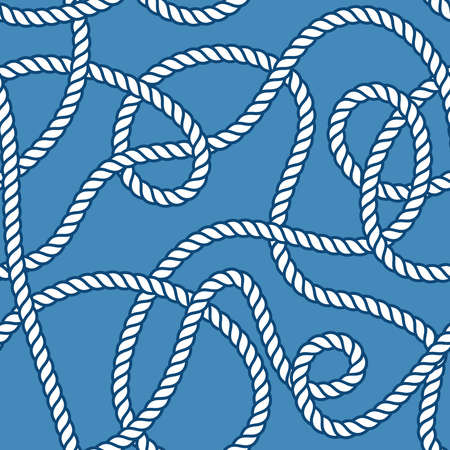 threads: Marine rope and knots seamless vector pattern Illustration
