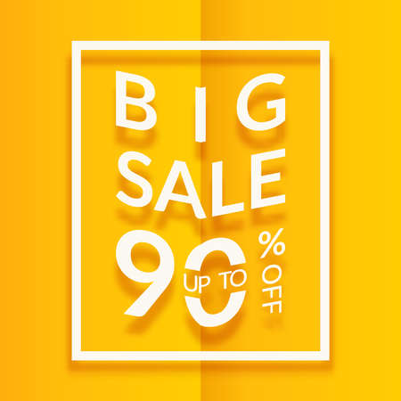 Sale Poster Or Flyer Design Paper Words On Yellow Background