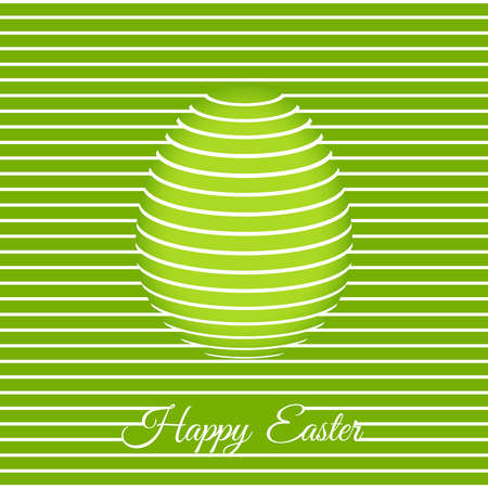 Trendy 3D Easter greeting card template with egg. Easter vector banner, cover, poster, flyer or greeting card