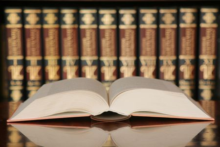 Open book in library, concept of knowledge Stock Photo - 4000179