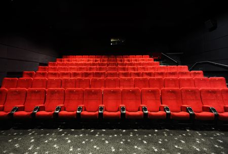 red chair: Cinema seats Stock Photo