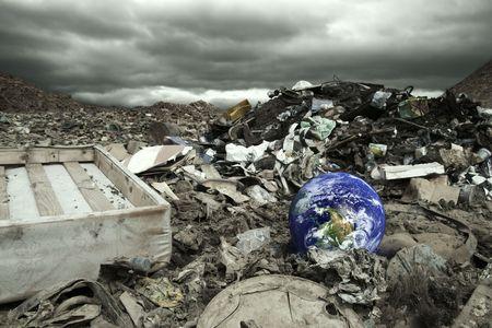 Global, environmental pollution concept