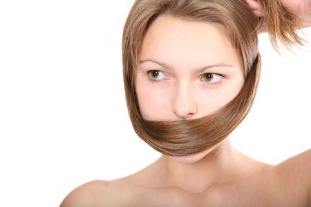 Woman hair Stock Photo