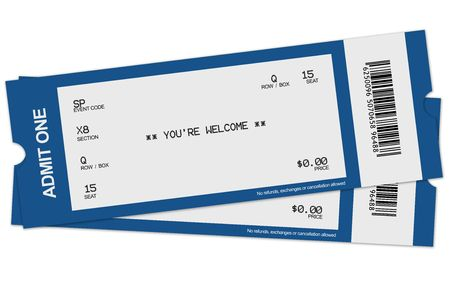 event tickets: Illustration of two tickets