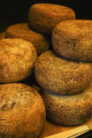 pienza: Typical tuscan pecorino cheese in Pienza, Italy