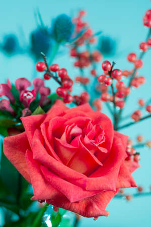 Colorful fresh flowers bouquet Stock Photo