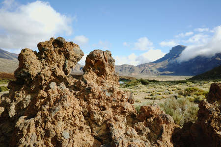 erupting: Teide National Park, Tenerife - the most spectacular travel destination, lava and volcano