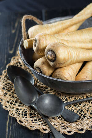 Fresh parsnip roots - ready to cook