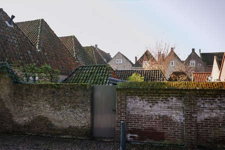 noord: Traditional Dutch old roofs in small village Heusden, Noord Brabant