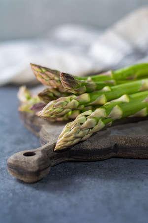Spring season - fresh organic white and green asparagus