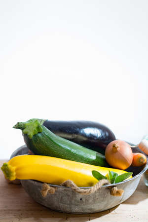 Fresh various vegetables for garnish Stock Photo