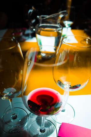Bílé a červené vínové ochutnávky Reklamní fotografie