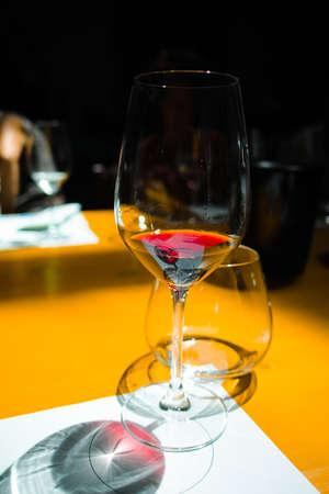 White and red wine tasting Stock Photo