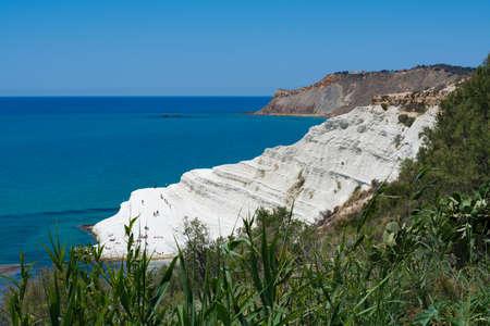 The white cliff called Scala dei Turchi in Sicily, near Agrigento. Italy, travel destination