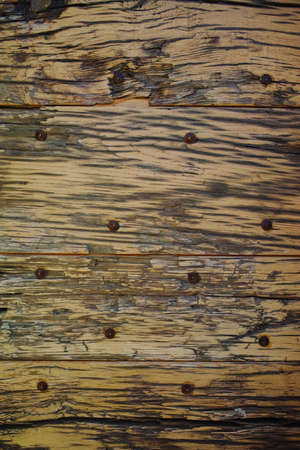 gray texture: Natural color old wooden plank texture with rusty nails, designer background, wallpaper, template Stock Photo
