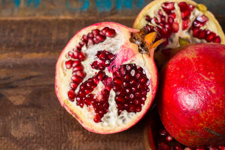 vitamin rich: Healthy fruit red  pomegranate, rich of Vitamin C, also known as a symbol of prosperity, fertility and used in traditional medicine