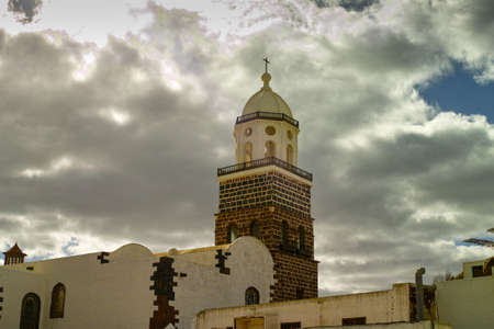 Old town Teguise with famous Sunday's market on Lanzarote, Canary islands, Spain