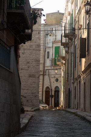 Small ancient Italian city on Adriatic sea shore Giovinazzo