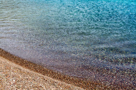 Blue sea water surface background copy space