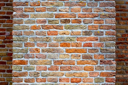 Medieval brick wall, brick structure background or wallpaper copy space