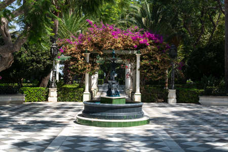 Beautiful green public parks in one of oldest city in Europe, Cadiz, Andalusia, Spain 写真素材