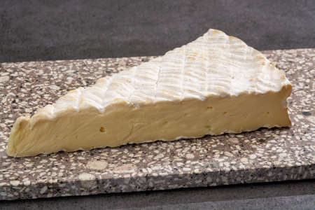 Cheese collection, French brie de Meaux cheese from Seine-et-Marne region with white mold close up
