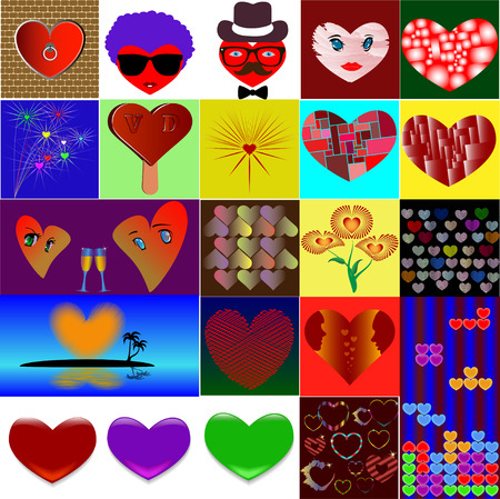The collage is made by Valentines Day